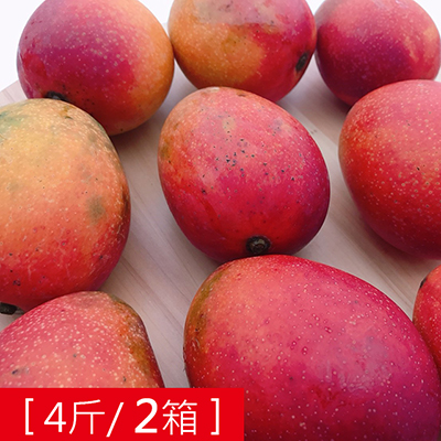枋山產地直送-香甜愛文芒果(4斤)*2箱