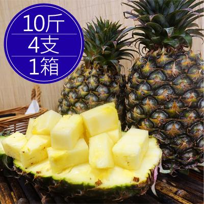 關廟爆甜多汁金鑽鳳梨(3支/10斤)*1箱