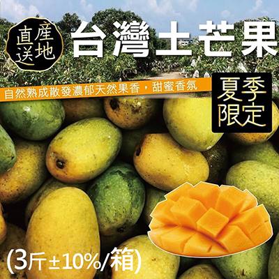 屏東正統土芒果(3斤±10%/箱)
