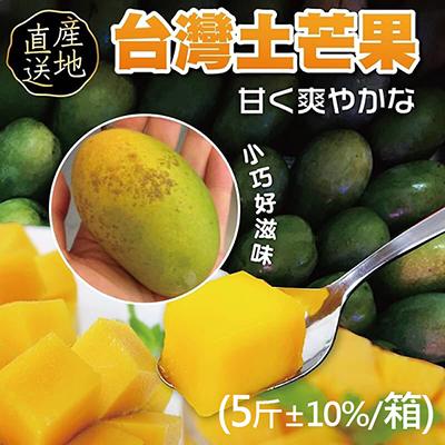 屏東正統土芒果(5斤±10%/箱)