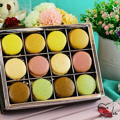 甜蜜純馬卡龍-12入禮盒