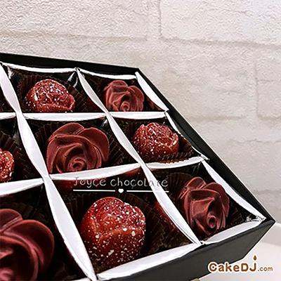 玫瑰巧克力禮盒(9顆入/盒)