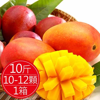 套袋自然熟成慢文芒果10斤(約10-12顆)