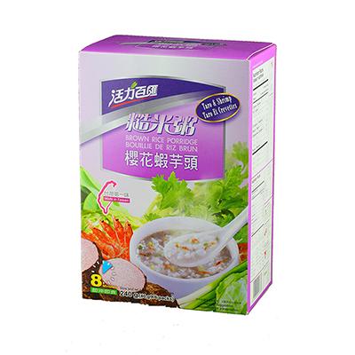 櫻花蝦芋頭糙米粥(40g*6入/盒)