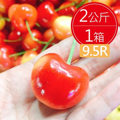 美國空運9.5R草莓白櫻桃2公斤/箱