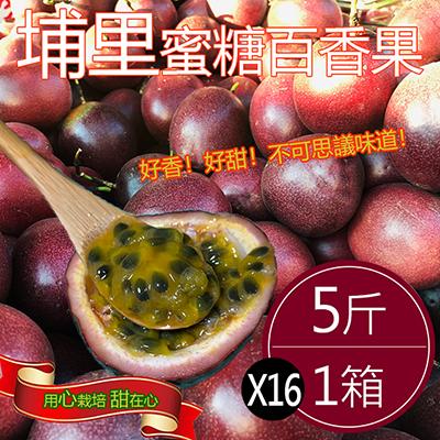 嚴選埔里大粒蜜糖百香果(5斤)*16箱