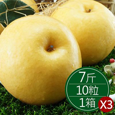 鮮甜黃金高接梨(420g*10顆)大禮盒*3箱