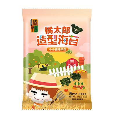 橘太郎味付造型海苔-小小農場(5枚*3包/袋)
