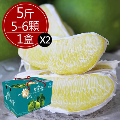 瑞穗黃氏40年老欉文旦精品禮盒(5斤/盒,共2盒)