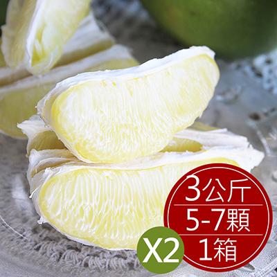 台南麻豆40年老欉文旦(5~7顆/盒,共2盒)