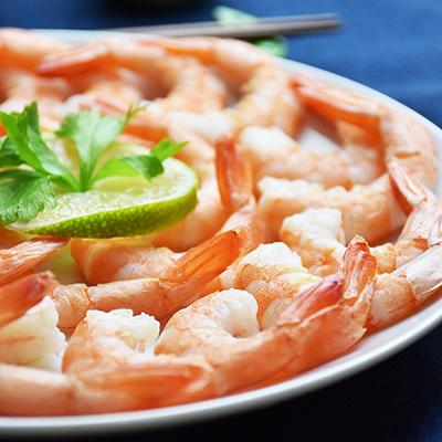 蝦趴-冷凍即食帶尾白蝦(180g±5%/盒)