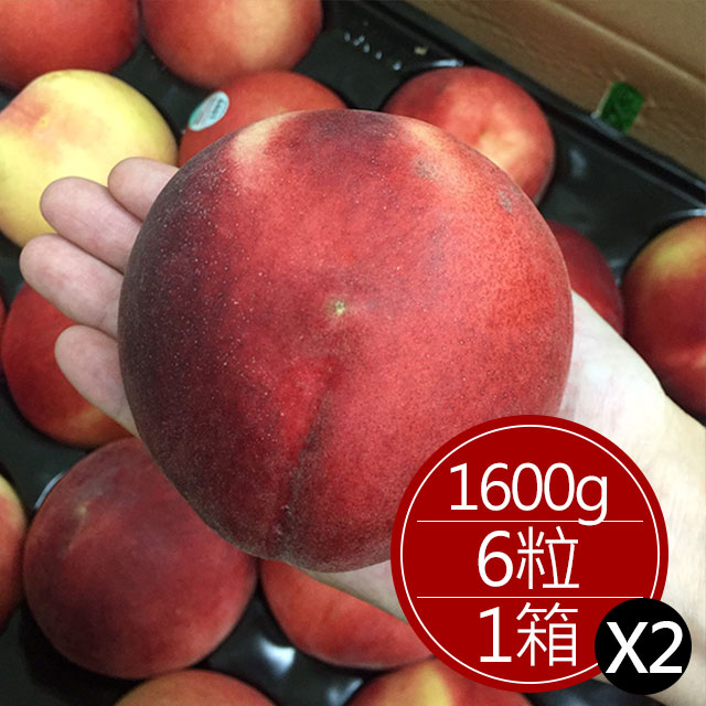 道格拉斯水蜜桃(6顆)*2箱
