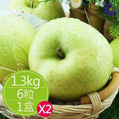 日青森水蜜桃蘋果(1.3kg/6粒)*2盒