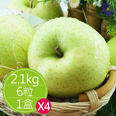 日青森水蜜桃蘋果(2.1kg/6粒)*4盒