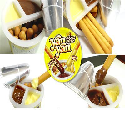 美式賣場 明治雙醬洋洋棒餅乾(巧克力與香蕉口味)1