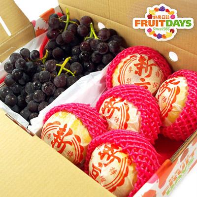 順利健康禮盒(新高梨5入+巨峰葡萄2.5台斤)
