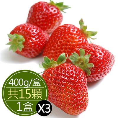 嚴選苗栗大湖香水草莓(15顆)*3盒