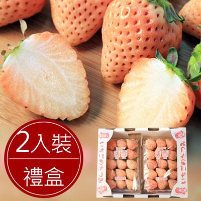 日本稀少白色草莓淡雪(2入裝精美禮盒)