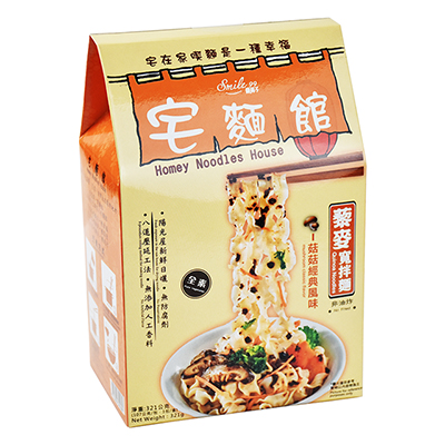 宅麵館藜麥寬拌麵(菇菇經典風味)(107g*3入)