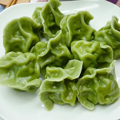 綠藻皮四季豆水餃 (鮮肉口味)(20顆)/包)
