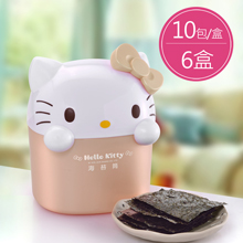 Hello Kitty海苔歡樂筒-玫瑰金(2.6g*10包/盒,共6盒)