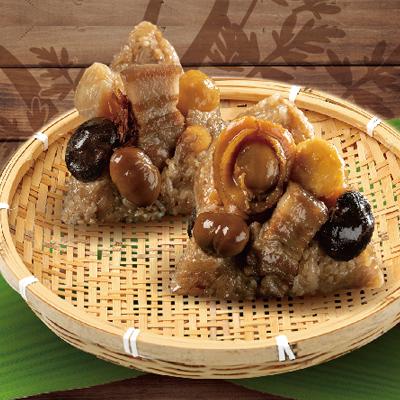 頂級鮑魚干貝肉粽組-北部粽