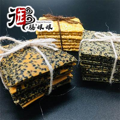 豆漿芝麻薄片-3口味各1袋(12入/袋,共3袋)