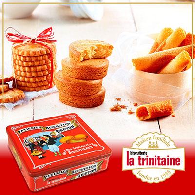 法國香頌餅乾友情禮盒1盒(奶蛋素)