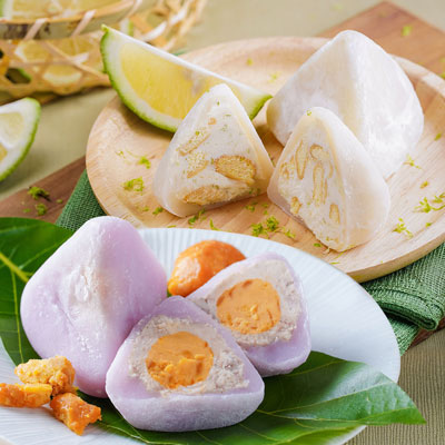 花菓子冰粽-黃金紫薯芋泥+蜂蜜檸檬乳酪