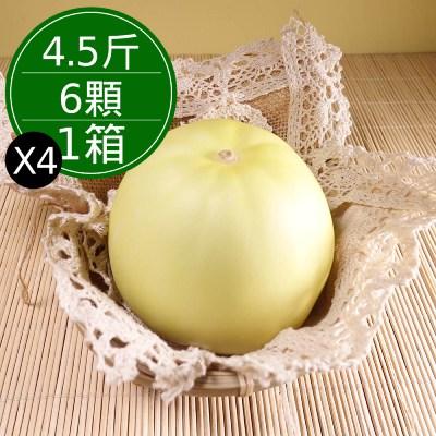特級美濃溫室香瓜(4.5斤/6顆/箱,共4箱)