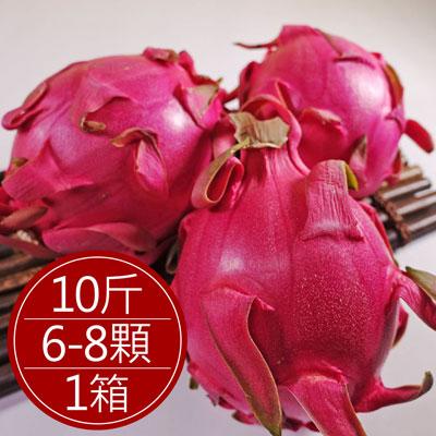巨無霸紅肉火龍果(原箱)(10斤/6-8顆/箱)
