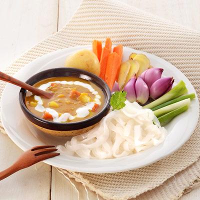 南洋咖哩調理餐包+蒟蒻麵(290g/組)