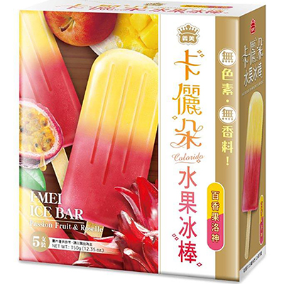 買一送一,卡儷朵水果冰棒-百香果洛神(70g*5入