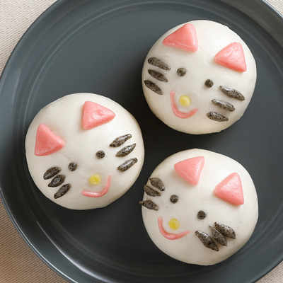 買一送一,貓咪甜包-綠豆餡(60g*10粒/包)